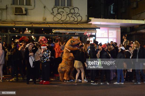 The whole Tel Aviv city came out in costumes to celebrate the eve of Jewish festival of Purim when dressing up is mandatory