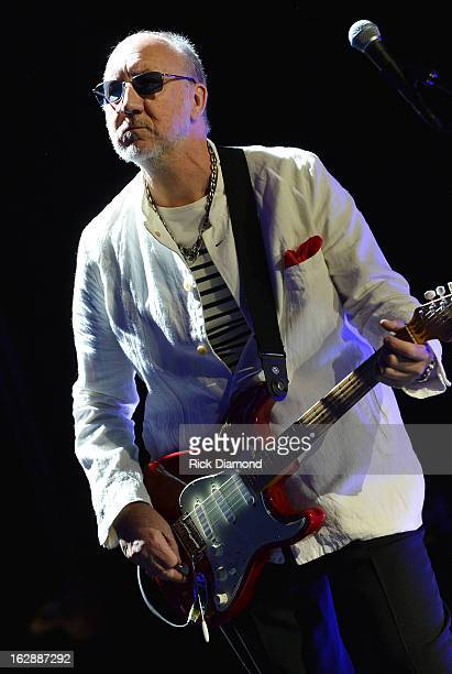 The Who's Pete Townsend performs during the Who Cares Benefit For Teen Cancer America Memorial SloanKettering Cancer Center at The Theater at Madison...
