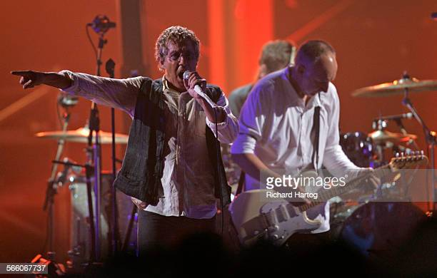 The Who's Roger Daltrey left and Pete Townsend perform on stage during the VH1 Honors tribute to the Who at Pauley Pavilion on the UCLA campus in...