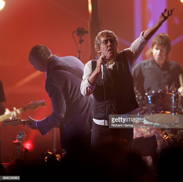 The Who's Roger Daltrey right and Pete Townsend perform on stage during the VH1 Honors tribute to the Who at Pauley Pavilion on the UCLA campus in...