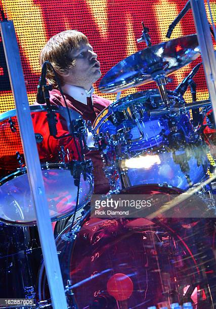 The Who's Zak Starkey performs during the Who Cares Benefit For Teen Cancer America Memorial SloanKettering Cancer Center at The Theater at Madison...