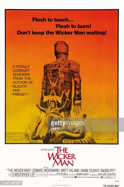The Wicker Man poster US poster from top Diane Cilento Christopher Lee Britt Ekland 1973