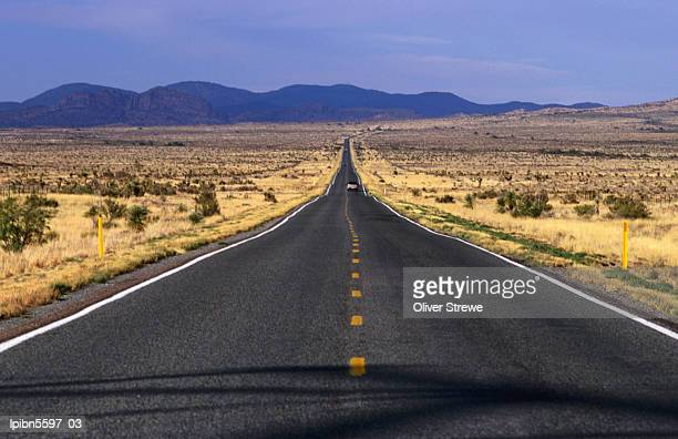 The wide open road in south west New Mexico., New Mexico, United States of America, North America