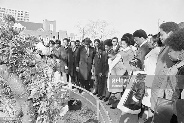 The widow and family members of the late Dr Martin Luther King Jr attended a memorial service at the King crypt marking the 44th birthday of the...