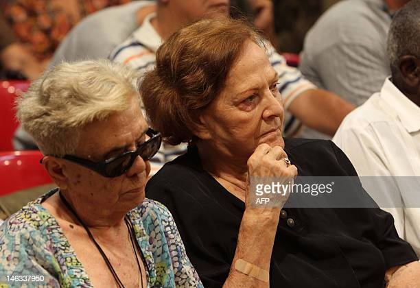 The widow of Argentineborn Cuban revolutionary leader Ernesto Che Guevara Aleida March attends the presentation of a new book on unpublished...
