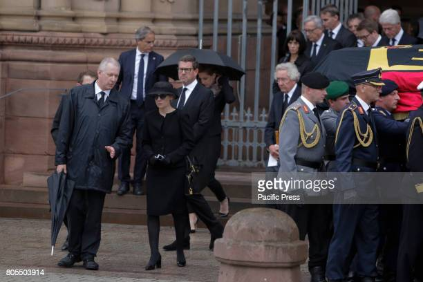 The widow of Helmut Kohl Maike KohlRichter follows the coffin of her late husbandA funeral mass for the former German Chancellor Helmut Kohl was held...