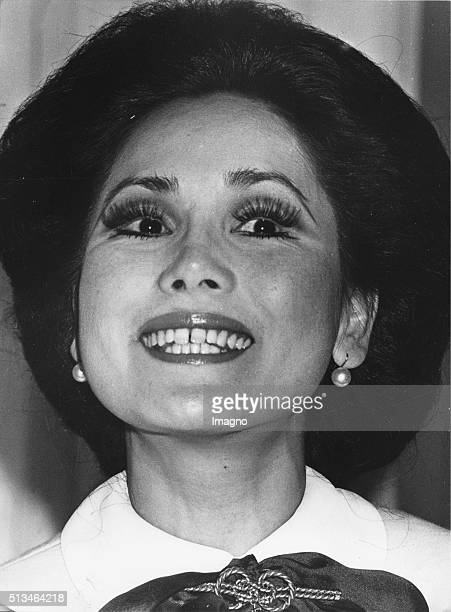The widow of the indonesian prime minister Sukarno Ratna Sari Dewi Sukarno Paris 10th October 1977 By Anonymous