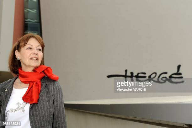 The widow of Tintin creator Herge Fanny Rodwel