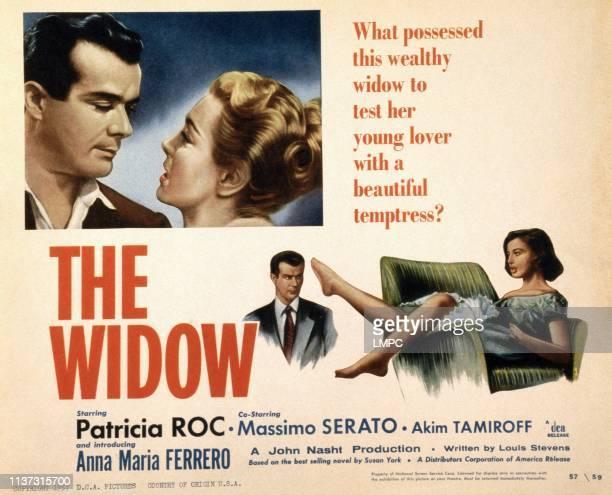 The Widow poster US poster top from left Leonardo Botta Patricia Roc bottom from left Leonardo Botta Anna Maria Ferrero 1955
