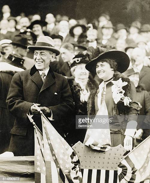 The Widowed President Wilson and Mrs. Galt, his second wife-to-be, at the World Series in 1915.