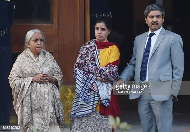 The wife and mother of Kulbushan Sudhir Jadhavan Indian national sentenced to death for spying in Pakistan leave after meeting with Jadhav at the...