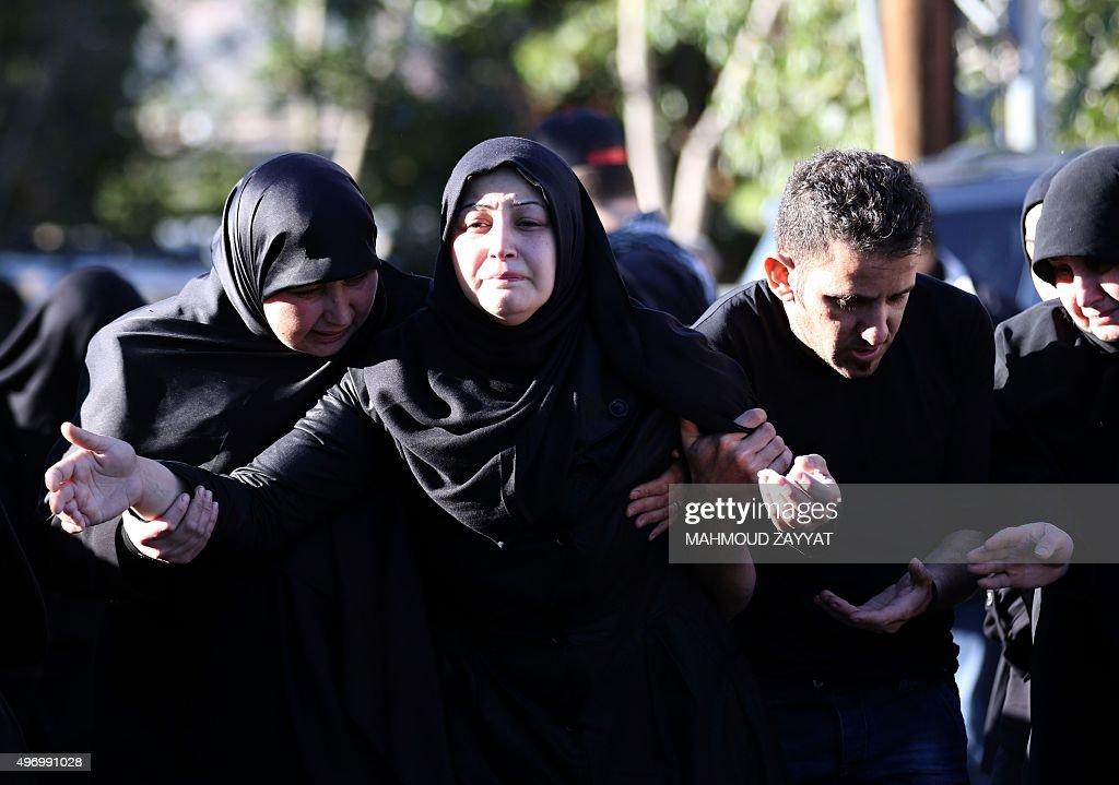 LEBANON-UNREST-BLAST-AFTERMATH-FUNERAL : News Photo