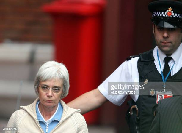 """The wife of """"back-from-the-dead"""" Briton John Darwin, Anne Darwin , leaves 09 December 2007 Manchester Airport police station before being handed over..."""