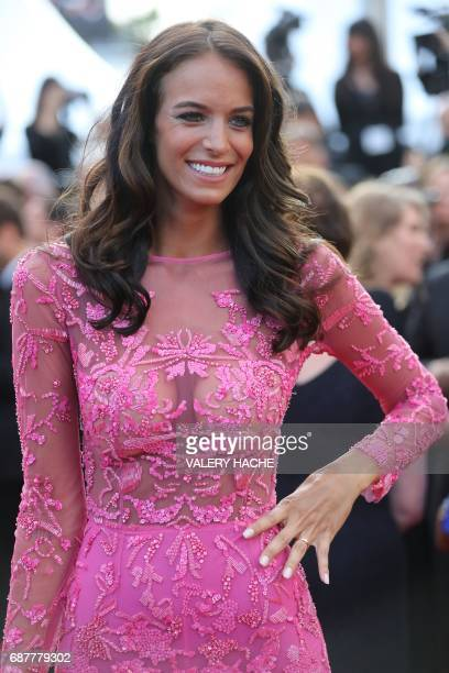 The wife of French businessman Arnaud Lagardere Jade Foret arrives on May 24 2017 for the screening of the film 'The Beguiled' at the 70th edition of...