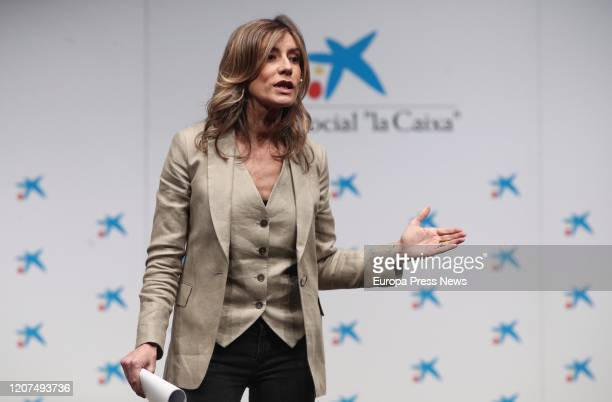The wife of the president of the Government and expert in the third sector and social impact Begoña Gomez during her speech in an Expert@and...