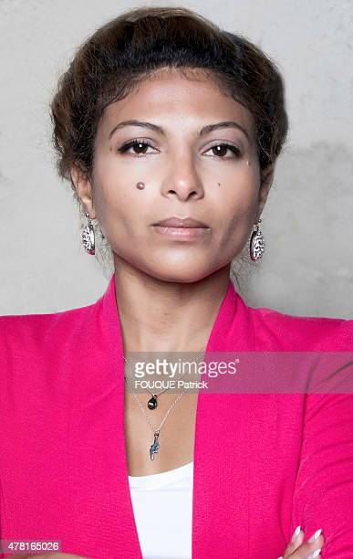 the wife of the saudi blogger Raif Badawi Ensaf Haidar poses for Paris Match on may 29 2015 in Paris France