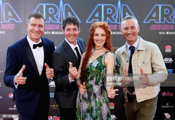 The Wiggles arrives for the 31st Annual ARIA Awards 2017 at The Star on November 28 2017 in Sydney Australia