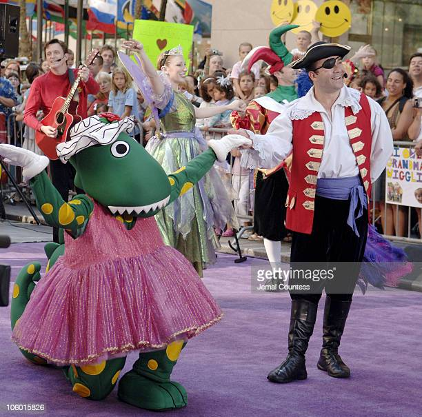 The Wiggles during The Wiggles Perform on the NBC The Today Show August 17 2006 at NBC Studios in New York New York United States