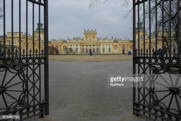The Wilanow Palace is seen in Warsaw Poland on February 23 2018