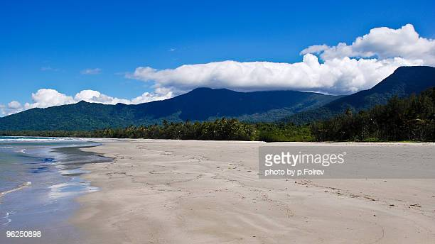 The wild and desert beach of Cape Tribulation