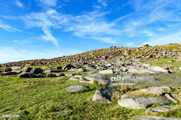 The Wild And Rugged Bodmin Moor In Cornwall England Britain Uk