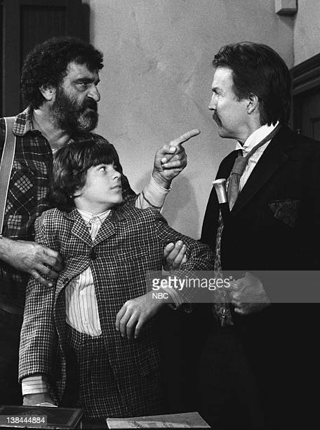 PRAIRIE 'The Wild Boy Part 2' Episode 7 Aired 11/8/82 Pictured Victor French as Isaiah Edwards Jonathan Hall Kovacs as Matthew Anthony Zerbe as Dr...
