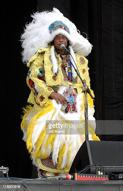The Wild Magnolias Mardi Gras Indians during Bonnaroo 2007 - Day 2 - The Wild Magnolias Mardi Gras Indians at What Stage in Manchester, Tennessee,...