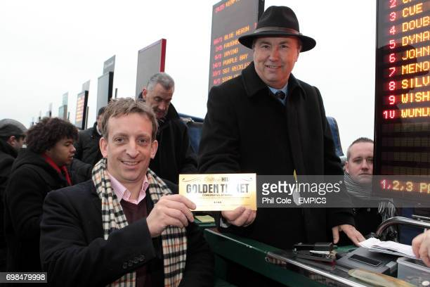 The William Hill 500 Golden Ticket Winner placing his bet
