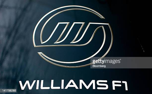 The Williams F1 logo is seen at the company's headquarters in Wantage UK on Thursday March 22 2012 GoAhead and Williams Hybrid Power Ltd will develop...