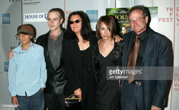 The Williams FamilyRobin Williams daughter Zelda wife Marcia son Cody and son Zac at the Tribeca Performing Arts Center in New York City New York