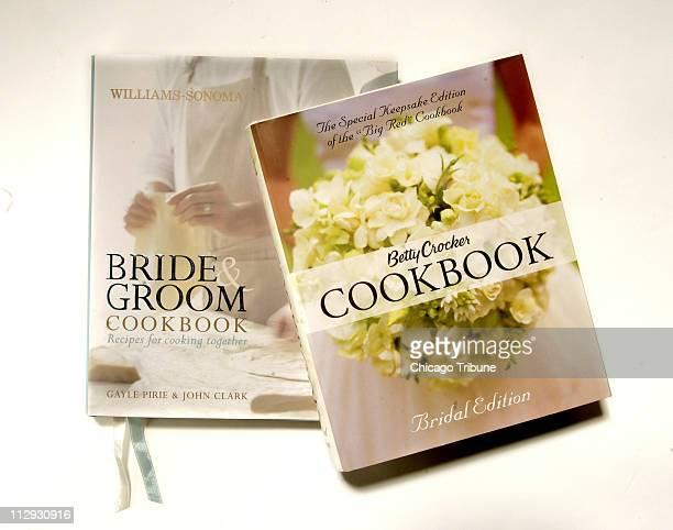 The WilliamsSonoma Bride Groom Cookbook left and the Betty Crocker Cookbook Bridal Edition
