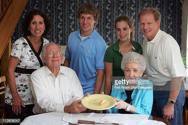 The Wilson family Mindy Jerry Blake Alyssa Betty and Jim gather around the family dinner table where they have coined a secert family word Wilsonize...