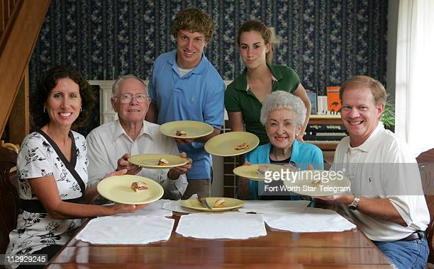 The Wilson family Mindy Jerry Blake Alyssa Betty and Jim sit around the family dinner table where they have coined a secert family word Wilsonize...