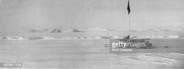The Wilson Piedmont Glacier Showing the Continuous Ice Cliffs They Are a Mile Distant from the Sledge which is on SeaIce' circa 1911 The final...