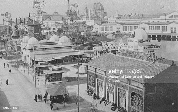 The Wind Mill exhibit and other features in the south end of the grounds at the World's Columbian Exposition in Chicago Illinois 1893 This image was...