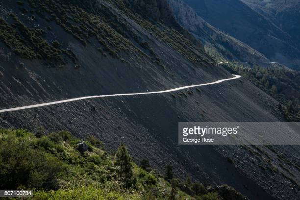 The winding mountain road along Highway 120 heading west up to Tioga Pass is viewed on June 28 near Lee Vining California Following a fiveyear...
