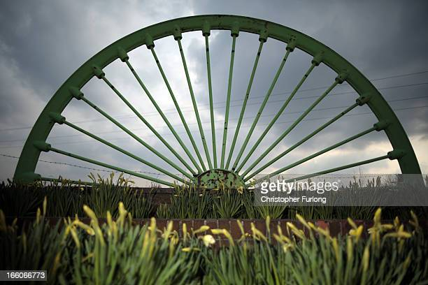 The winding wheel of the old Treeton Colliery stands in dedication to the strife of miners near the former Orgreave coking plant 29 years on from the...