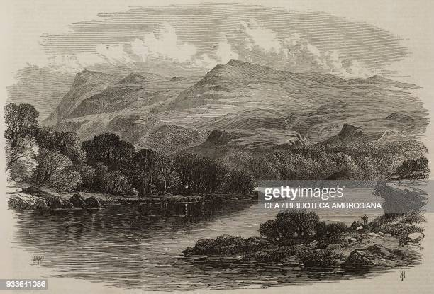 The windings of Lough Erne lake County Fermanagh Northern Ireland United Kingdom illustration from the magazine The Illustrated London News volume...