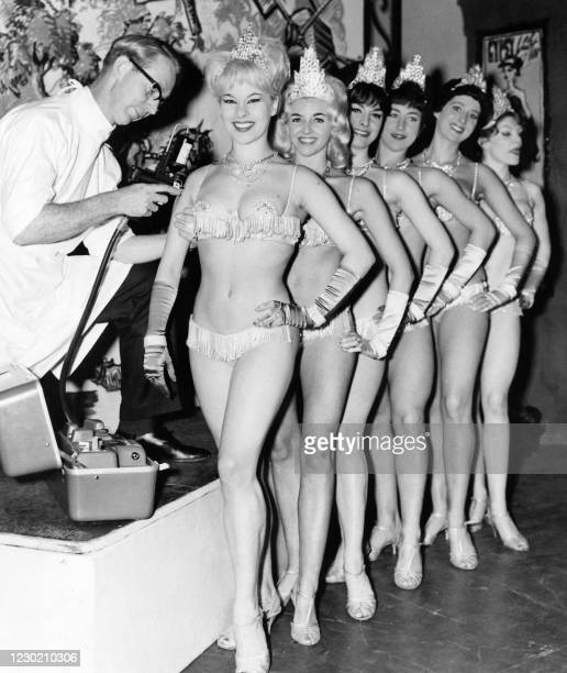 The Windmill Girls, the showgirls from the Windmill Theater in London, are given influenza vaccinations on September 12, 1963.