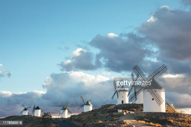 the windmills of consuegra - toledo spain stock pictures, royalty-free photos & images