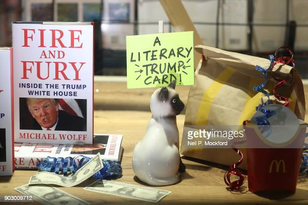 The window display at Waterstone's Piccadilly shows copies of one of the UK's first consignments of 'Fire and Fury Inside the Trump White House' by...