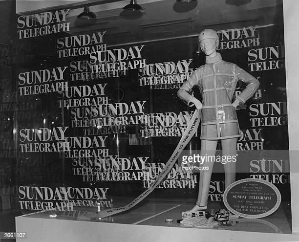 The window display of the young Jaeger shop on Sloane Street London which won the Daily Telegraph's window dressing competition