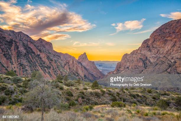 the window in the chisos mountains of big bend national park - big bend national park stock pictures, royalty-free photos & images