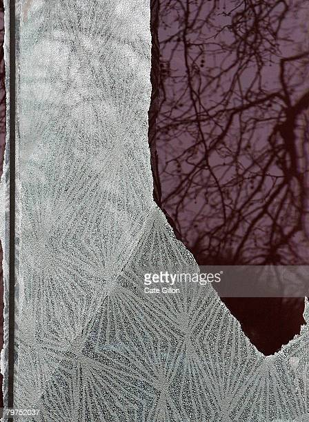 The windows at the Stephen Lawrence Centre are vandalised on February 14 2008 in Deptford London The centre which is a tribute to the murdered...