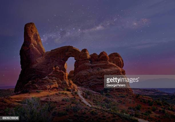 The Windows rock formation in Arches National Park.