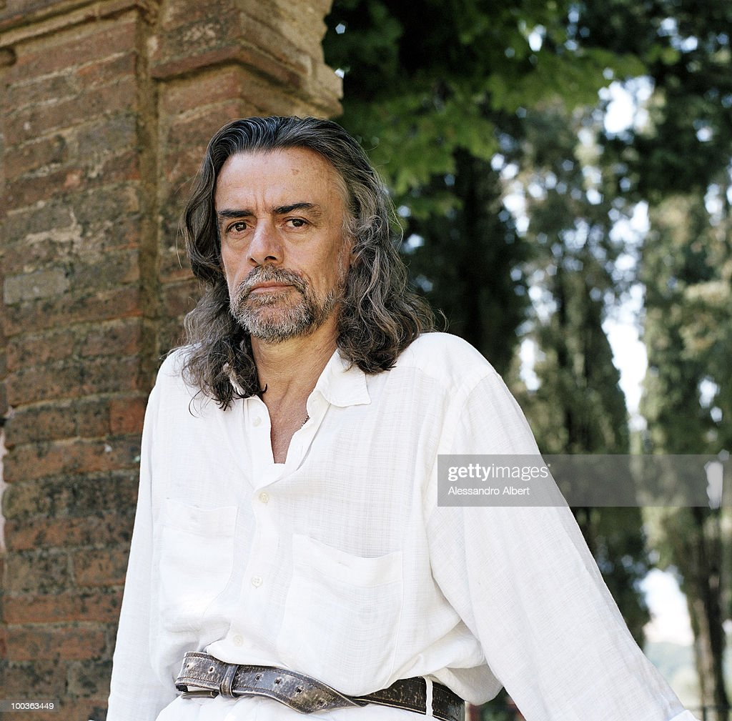 The wine consultant Gelasio Gaetani d'Aragona Lovatelli poses for a portraits session in the Villa Argiano on July 12, 2006 in Argiano, Italy