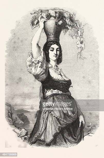 The Winemaker Of Capri By Rudolph Lehmann 1819 1905 German Liszt Gourmet Archive Italy Woman Grapes Vine Wine Winemaking Winery Alcohol Harvesting...