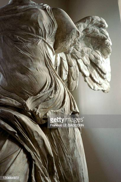 The winged victory of Samothrace in Samothrace Greece A replica of the Winged Victory of Samothrace at the city's museum