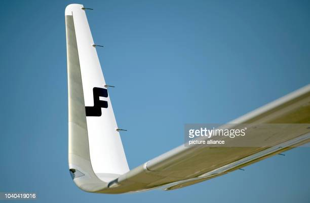 The wings of an Airbus A321 with new 'sharklets' at the Airbus factory in HamburgGermany 06September 2013 Airbus delivered the first A321 with...