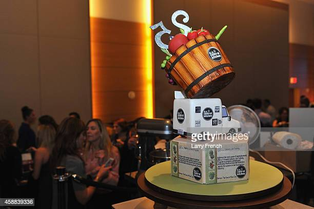 The winner cake prepared by Melissa Payne of Couture Cake Creations is seen during the DC Central Kitchen's Capital Food Fight event at Ronald Reagan...